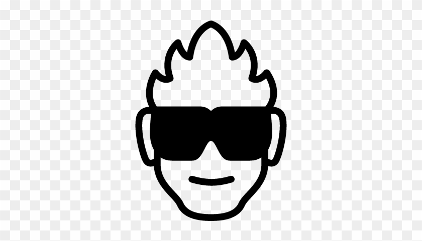Eye Protection Vector - Man With Sunglasses Icon #990935