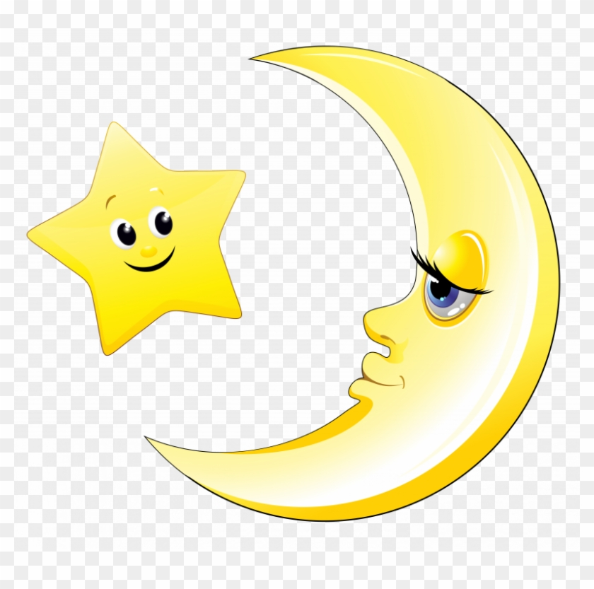 Cute Moon And Stars Clipart - Free Transparent PNG Clipart ...
