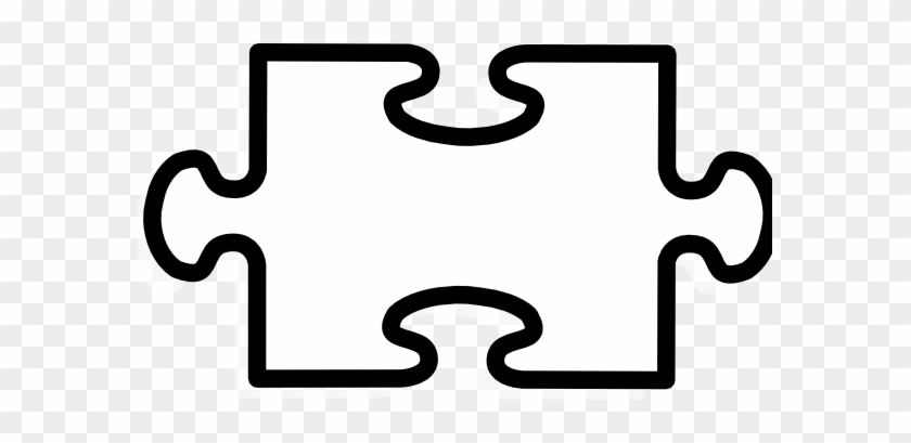 Latest Puzzle Piece Coloring Page Test Clip Art At - Jigsaw Piece Black And White #991377