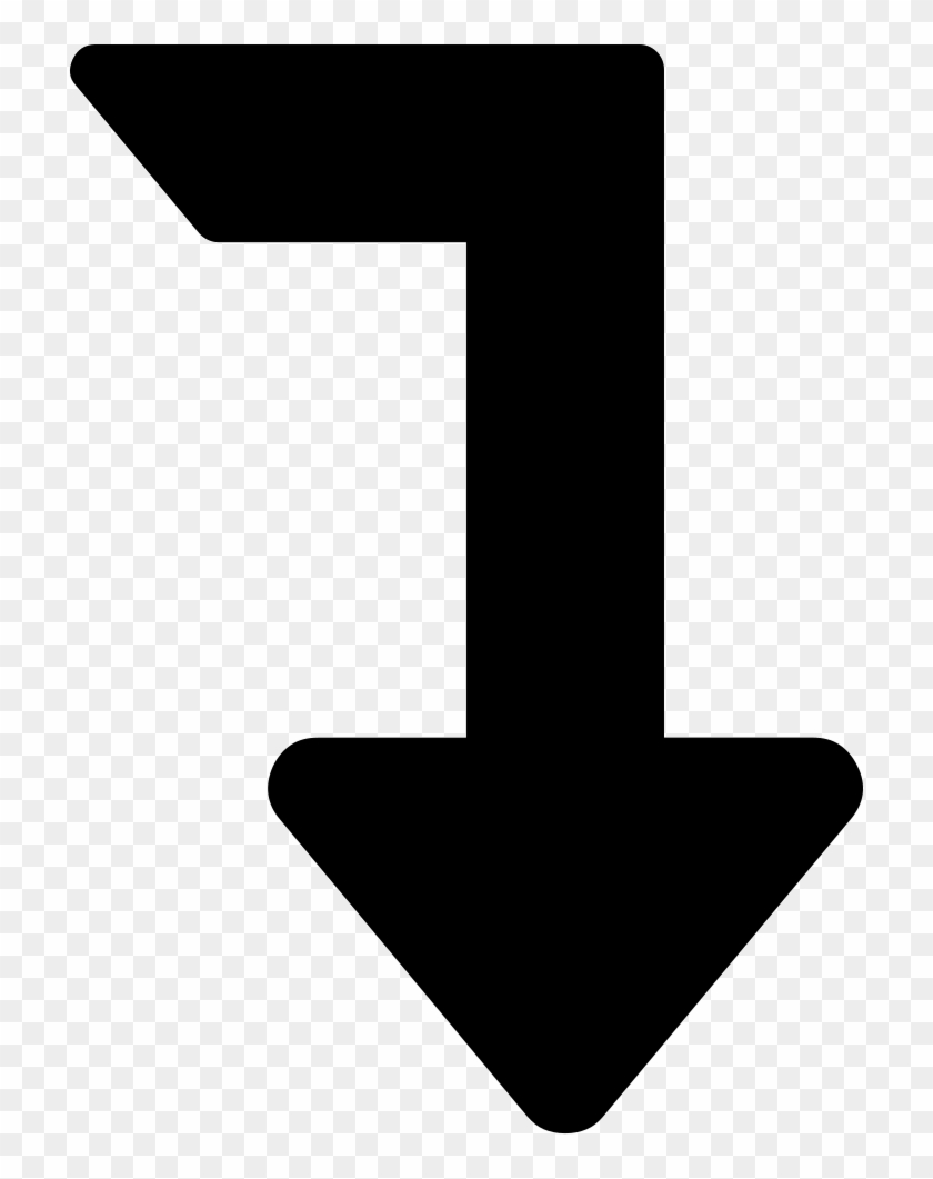 Arrow Angle Pointing Down Comments - Arrow Pointing Right And Down #992744