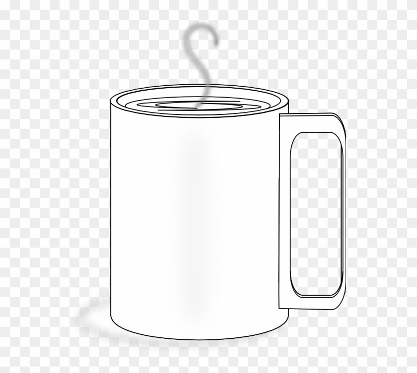 Food Coffee Cup Black White Line Art 555px - Clip Art - Free