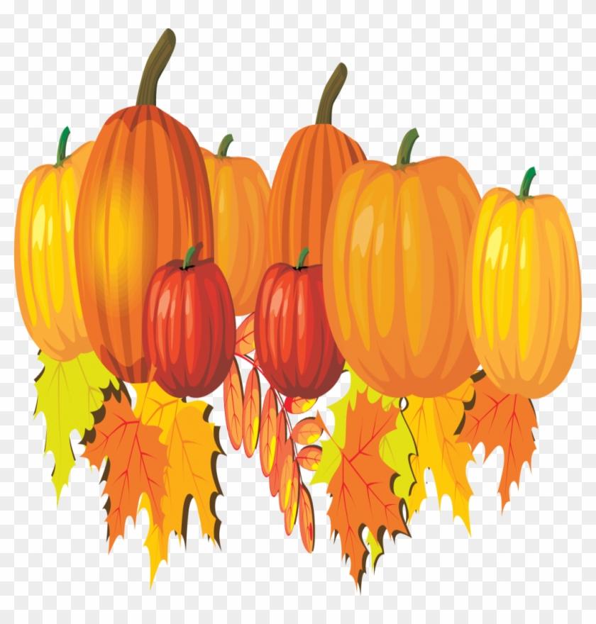 Inspirational Pumpkins And Leaves Clip Art Clipart - Fall Leaves And Pumpkin Clip Art #994126