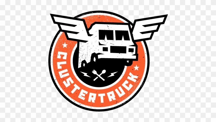 Cluster Truck Free Food Delivery Service - Cluster Truck Logo #994497