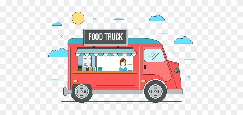 Cartoon Logo Design Food Truck Cartoon Logos And Mascots - Food Truck Cartoon Png #994501