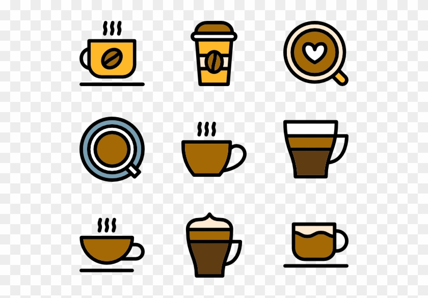 Linear Cups Of Coffee - Coffee Cup Icon Png #174060