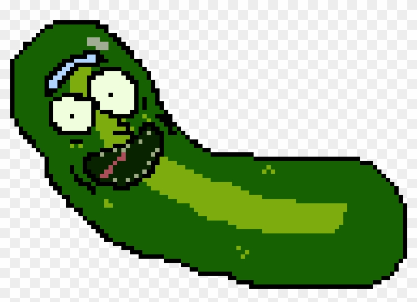 Pickle Rick - Pickle Rick Pixel Art #174248