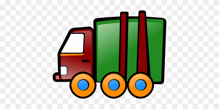 Truck, Toy, Vehicle, Cartoon, Pickup - 3drose Pc_205099_1 Print Of Green And Brown Dump Truck #174272