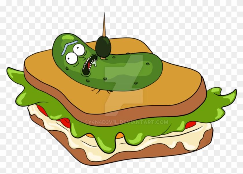 Pickle Rick Sandwich By Cy4n4d3v1l - Pickle Rick #174288