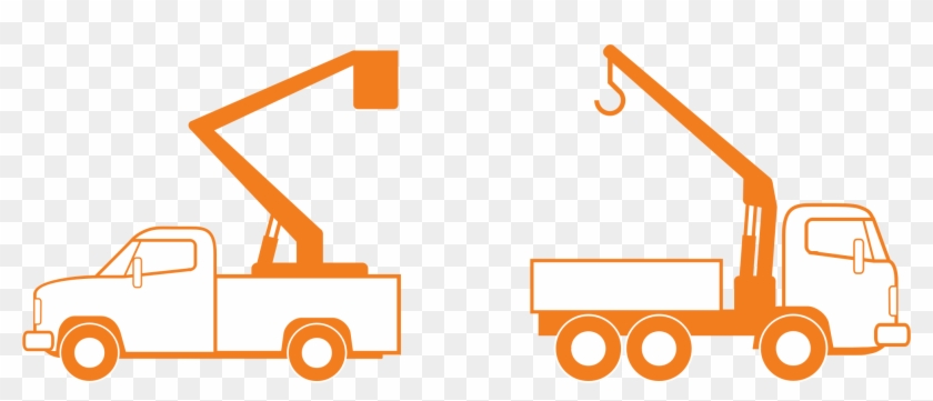 And Crane Trucks - Bucket Truck Clip Art #174361