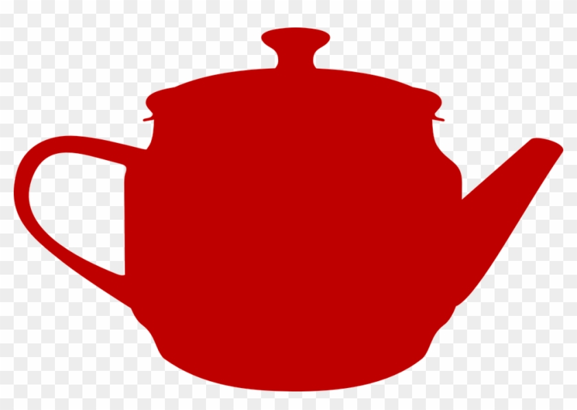 Teacup Clipart Red - Alice In Wonderland Teapot Silhouette #174421