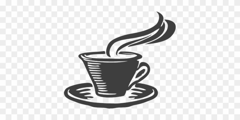 Tea Cup Gray Coffee Aroma Java Steam Break - Coffee Mug - Tote Bags #174468