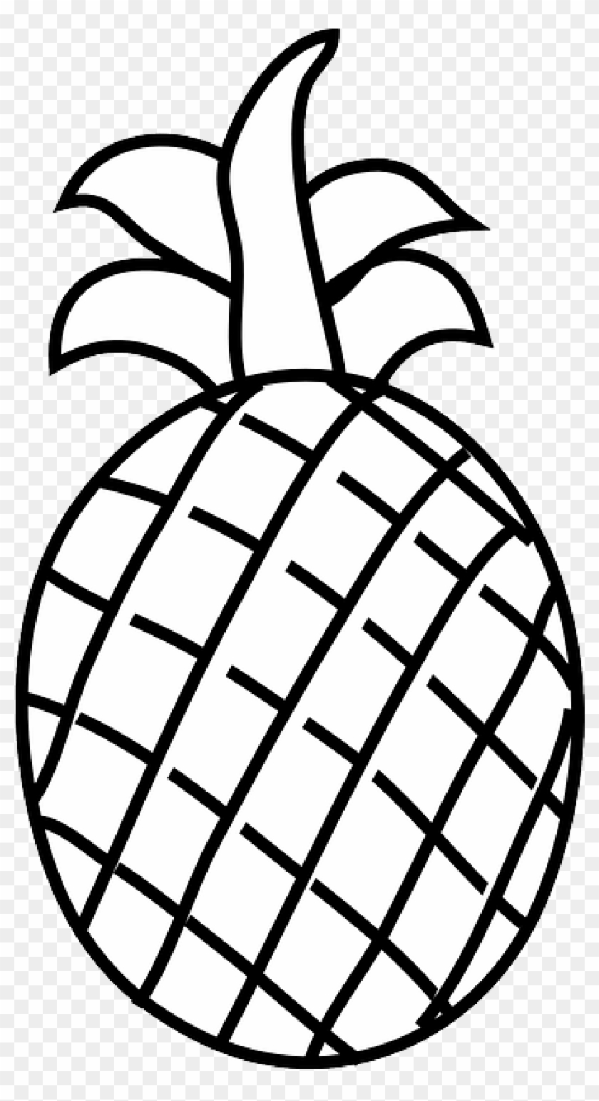 Black, Apple, Food, Fruit, Outline, Drawing, White - Line Drawing Of Fruits #174559