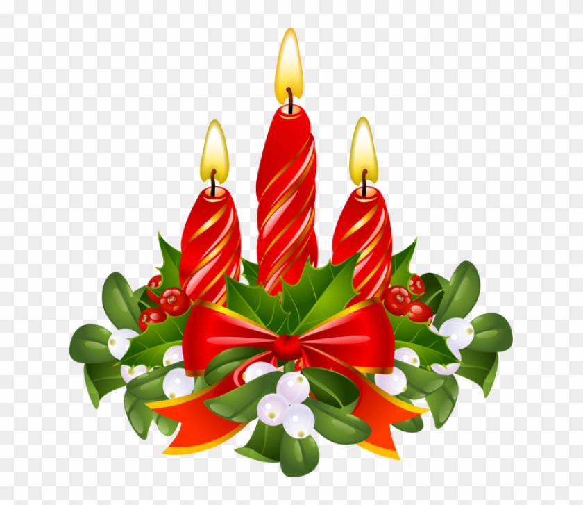 Christmas Candle Clip Art - Christmas Candles Clipart #174602