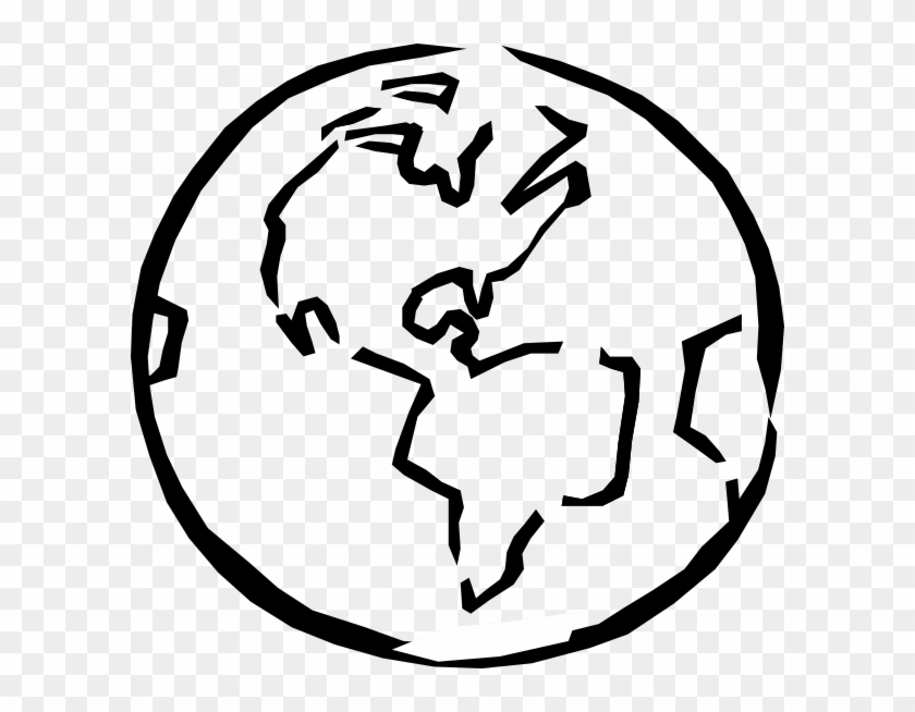 Globe Clipart Black And White - Earth Clipart Black And White #174700