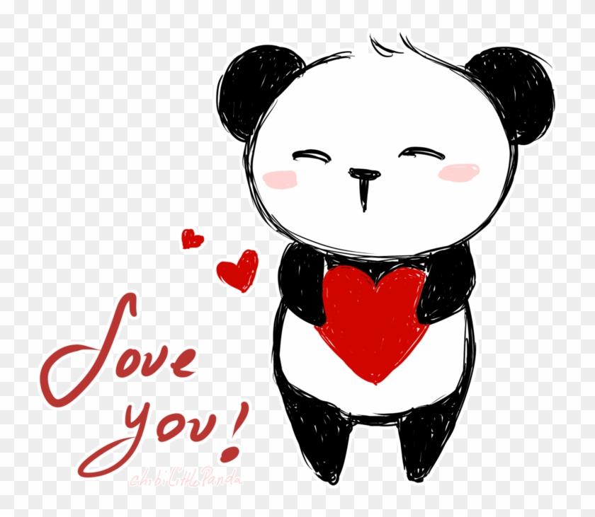 Panda Clipart I Love You Cute Panda I Love You Free Transparent