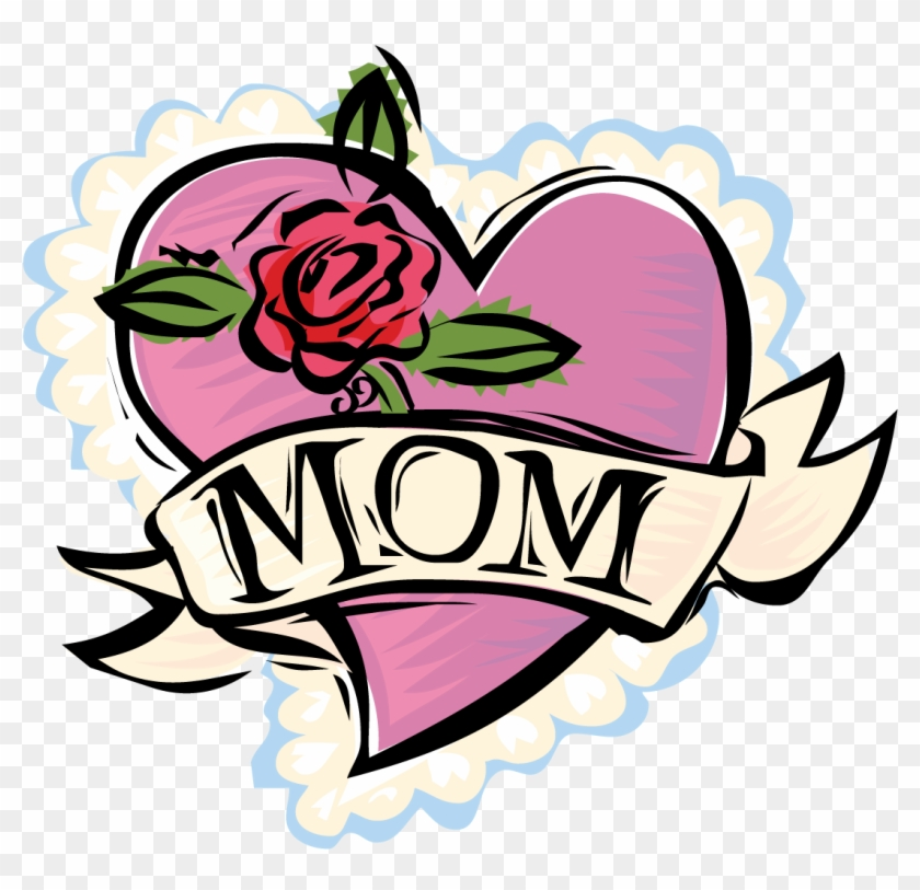 mothers day clipart mom heart and rose free transparent png rh clipartmax com mother's day clip art 2017 mothers day clip art spanish