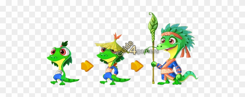 Kung Fu Pets Forest Lizard Growth - Kung Fu Pets Forest Lizard #175204