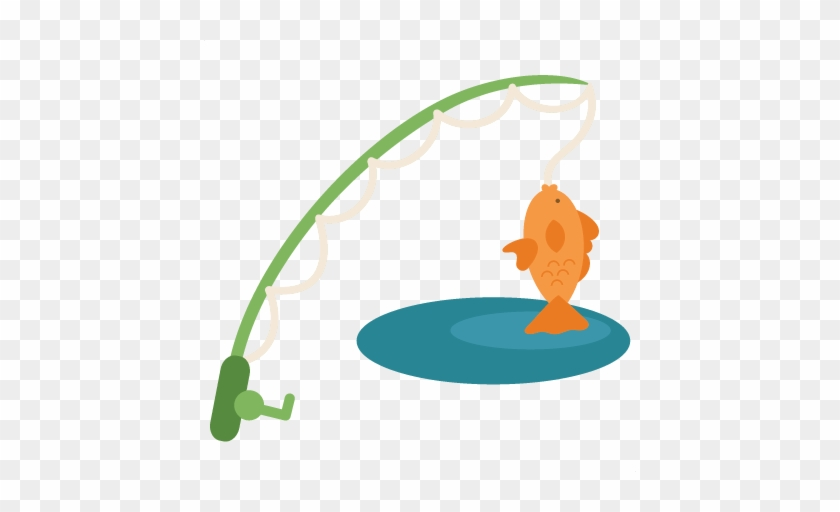 Fishing Pole - Cute Fishing Pole Clipart #175274