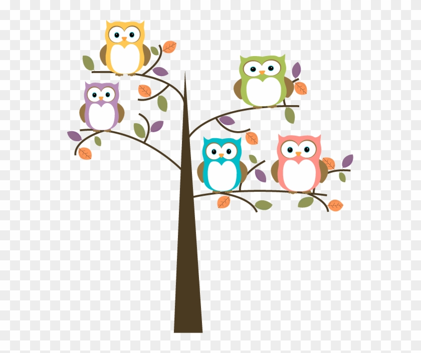 Clipart Back To School - Owls On A Tree #175398