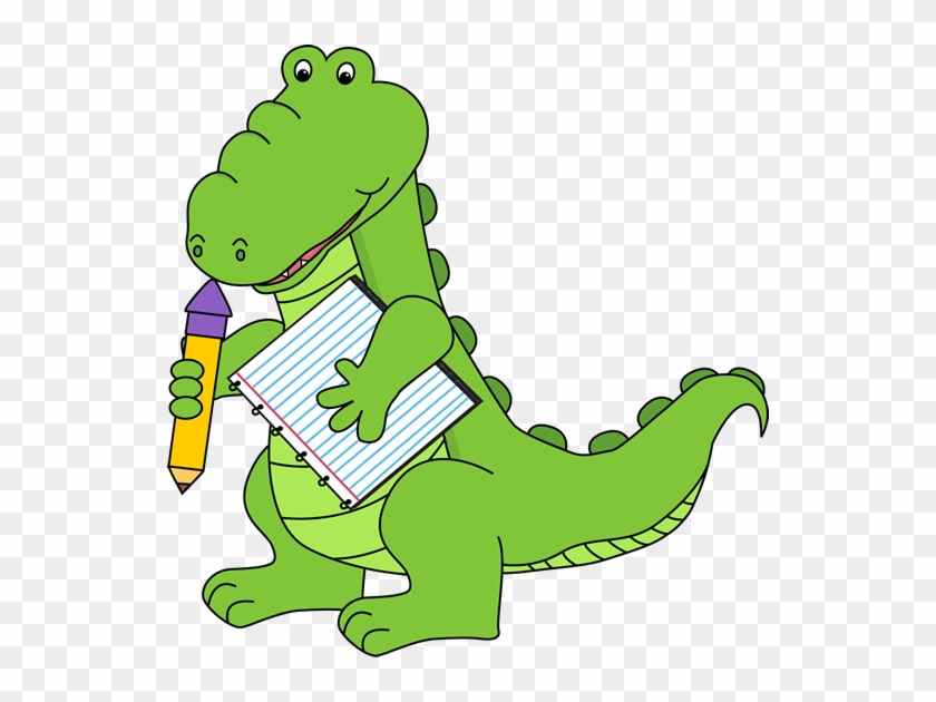 School Alligator - Alligator School Clipart #175399