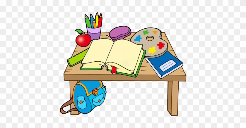 Moc Hezké Kliparty Na Téma Škola - School Table Cartoon #175434