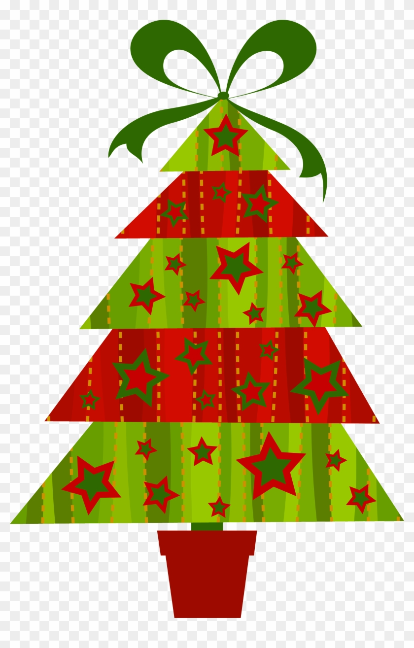 Free Clip Art Christmas Trees Modern Christmas Clip Art Free Transparent Png Clipart Images Download