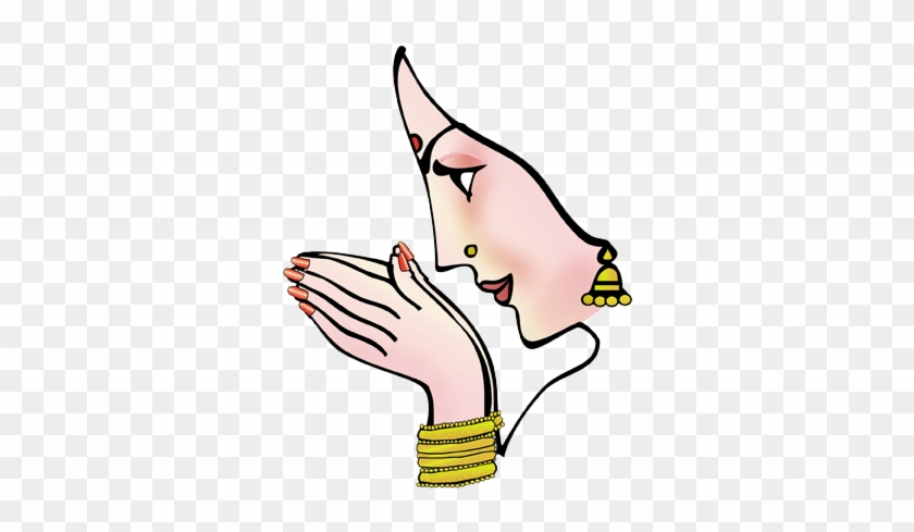 Namaskar Hand Clipart - Indian Wedding Clipart Png #175519
