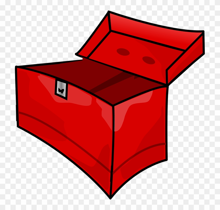 Page Red, Box, Outline, Drawing, Open, Cartoon, Empty, - Open Tool Box Clip Art #175560