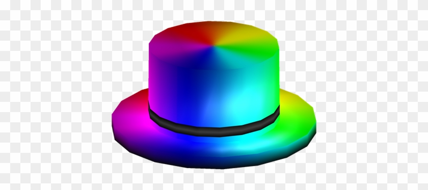 Rainbow Top Hat Roblox Blue Top Hat Free Transparent Png