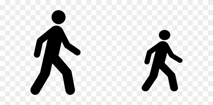 Person Walking Outline Images & Pictures - Walking Man Icon Vector #175733