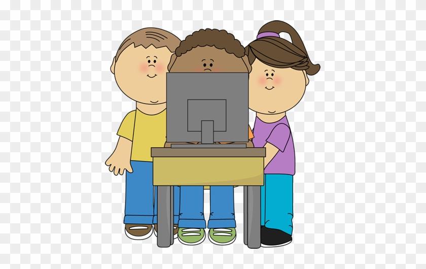 Technology - Children On Computer Clipart #175890
