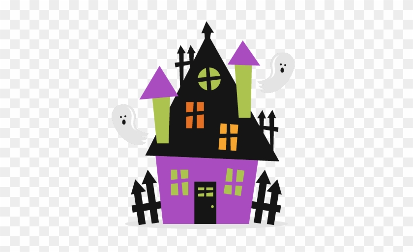Clipart Haunted House & Haunted - Cute Halloween Haunted House #175953