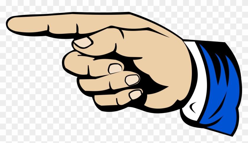Thumb Index Finger Digit Clip Art - Pointing Finger Clipart #175959