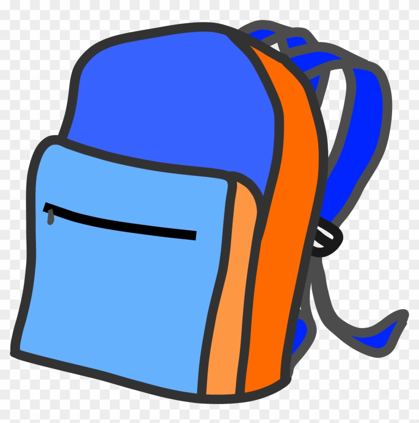 Clipart School Backpack - Easy To Draw Backpack Drawings #176039