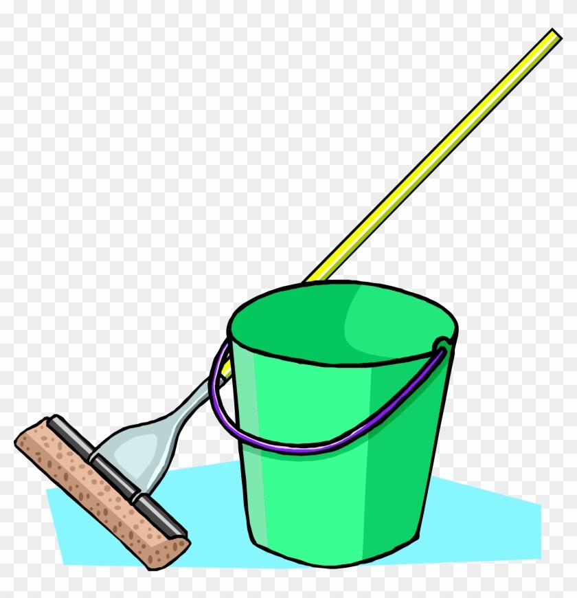 Big Image - Cartoon Mop And Bucket #176170