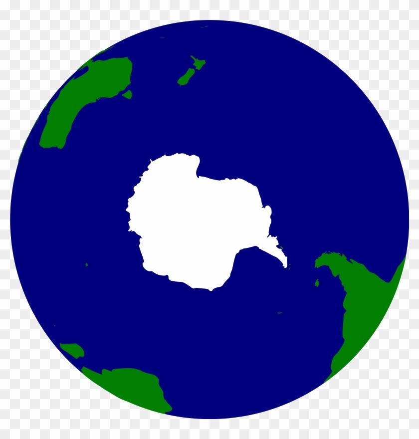 Big Image - Antarctica Globe Clipart #176207