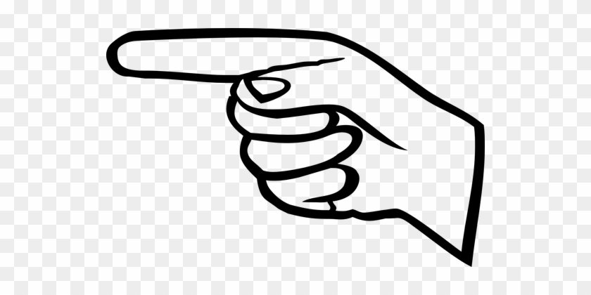Finger Hand Point Pointer Finger Finger Fi - Finger Pointing Left Clipart #176219