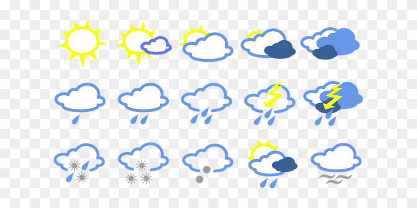 Weather Signs Symbols Forecast Weather For Weather Symbols Free