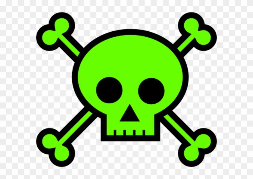 Skull - Green Skull And Crossbones #176465