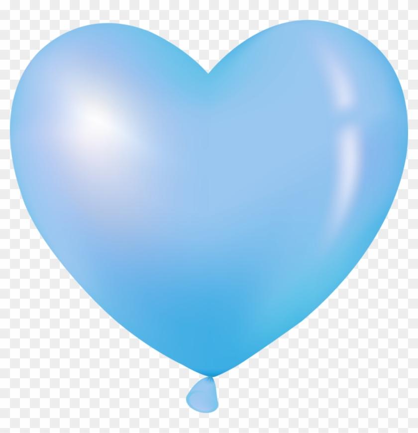 Blue Heart Balloon - Heart Balloon Clip Art #176784
