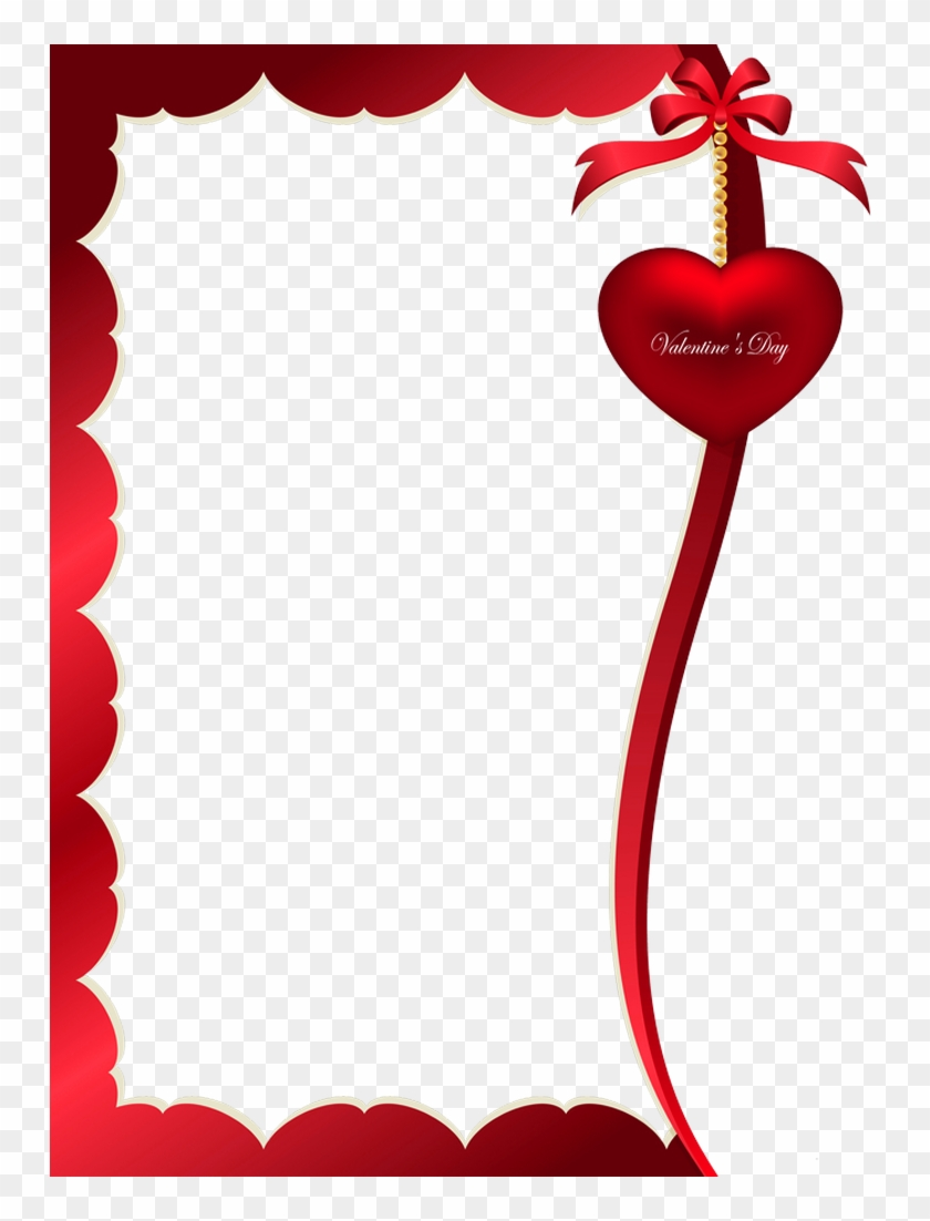 Valentines Day Decorative Ornament For Frame Png Clipart - Valentines Day Border Png #176797