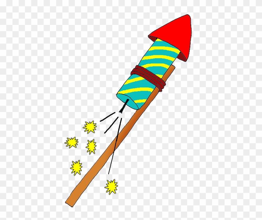 Firework Rocket Clipart - Rocket Firework Clipart #176812