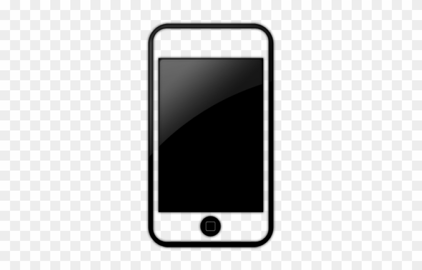 Iphone - Cell Phone Icon Black #176894