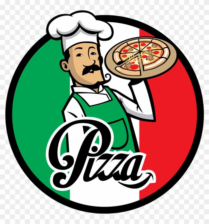 Pizza Delivery Italian Cuisine Chef - Italian Pizza Chef Logo #176964