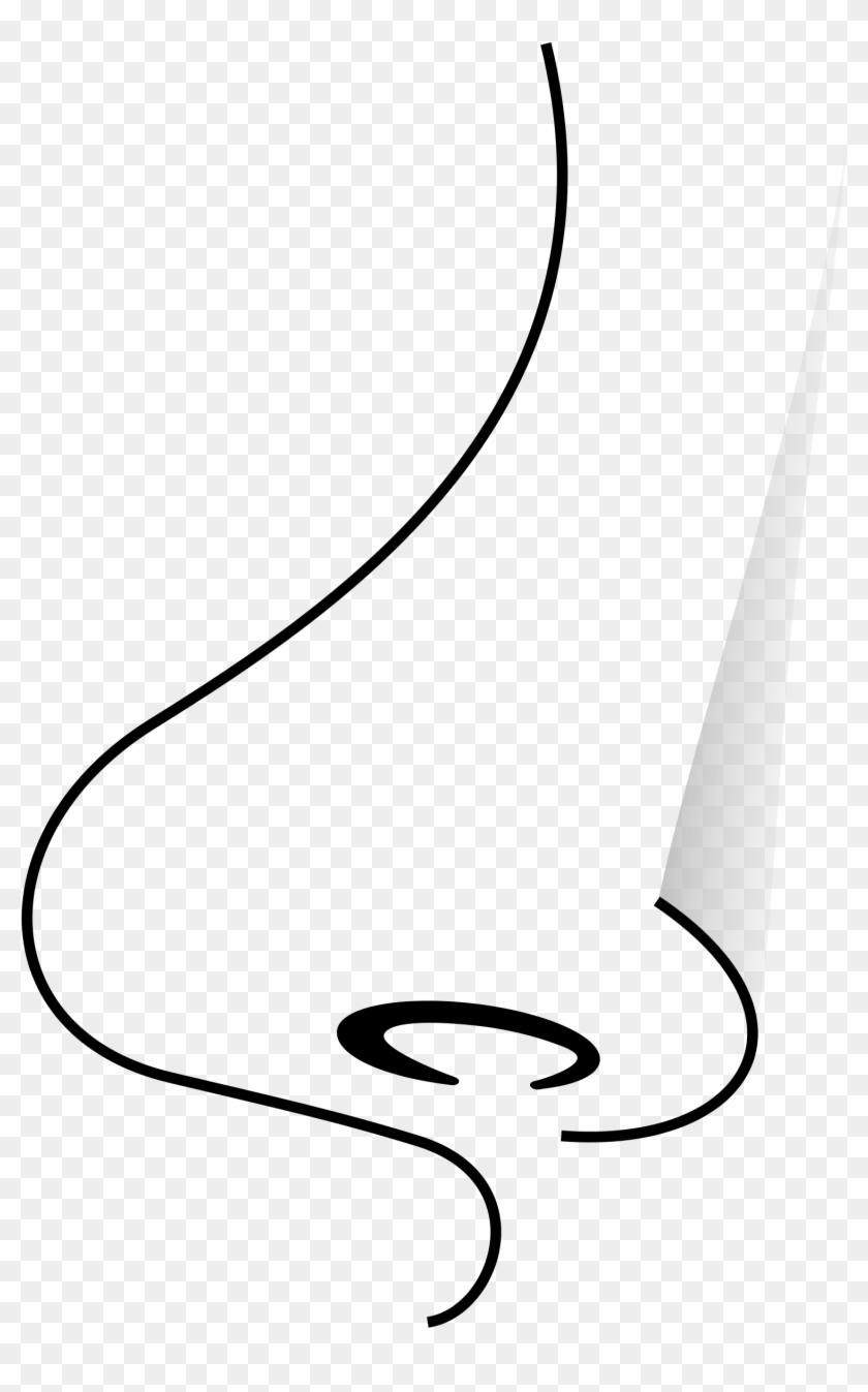 clip art black and white nose - free transparent png clipart images
