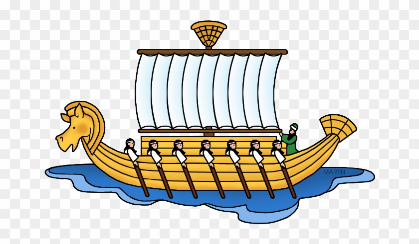 Geography Of Ancient Egypt - Greek Boat Clip Art #177038