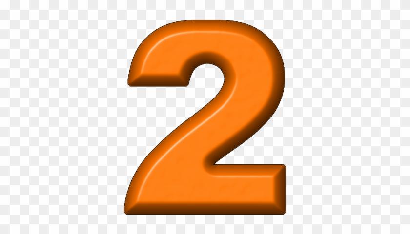 Orange Clipart Number 2 - Orange Number 2 Clipart #177054