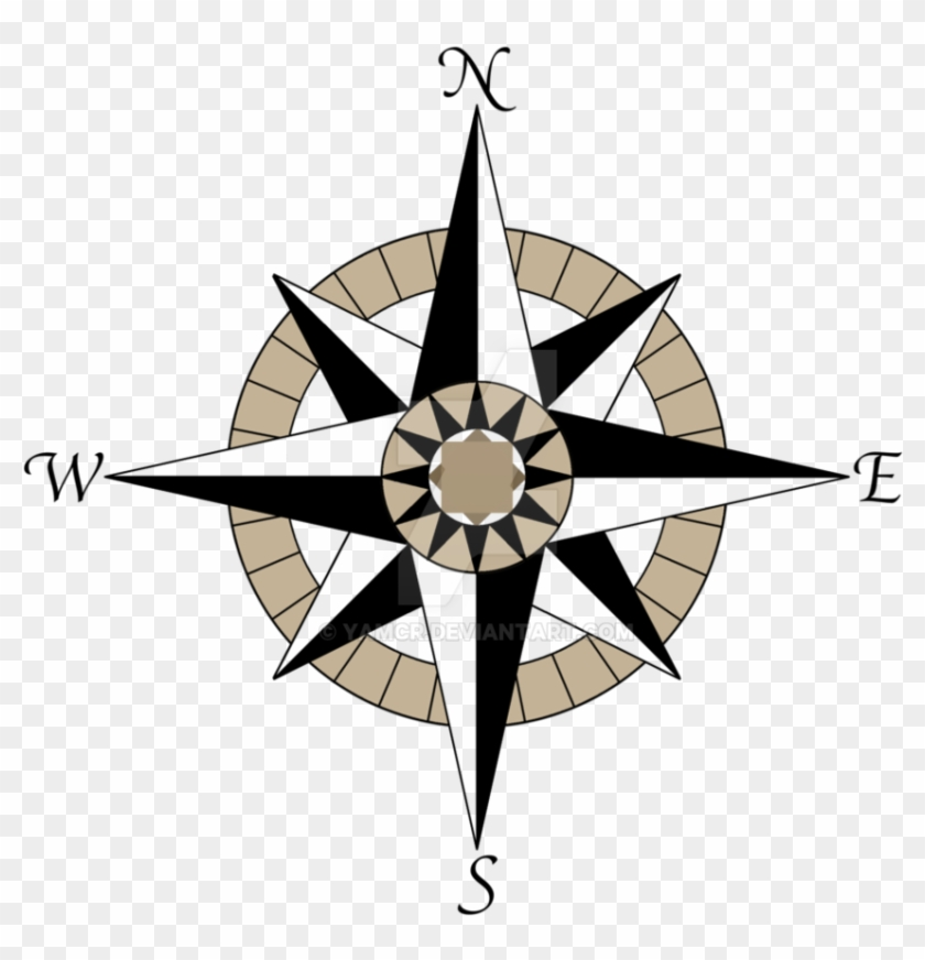 Compass Rose Tattoo Design By Yamcr On Deviantart - Compass Rose Transparent Background #177061