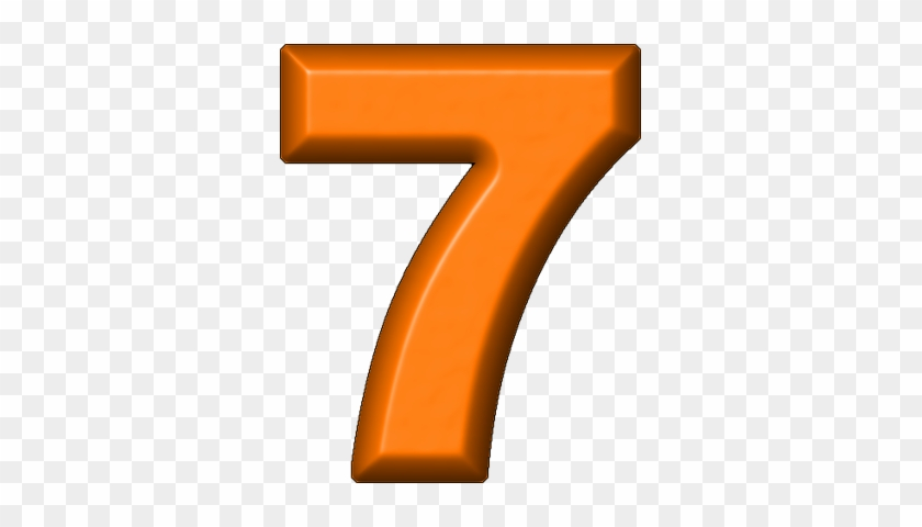 Orange Refrigerator Magnet - Number 7 Color Orange #177175