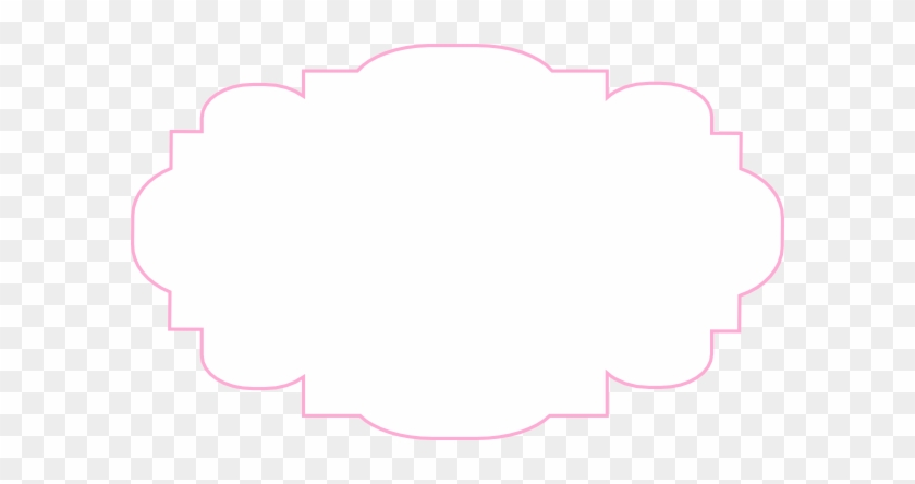 Pink And White Label Clip Art At Clker - Yellow Frame Clipart - Free ...